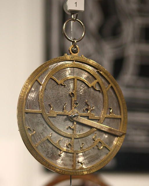Jean Fusoris planispheric astrolabe in Putnam Gallery, 2009- photo Sage Ross