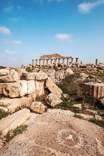 The first spiral staircase was discovered in one of the five ancient Greek temples at the Ancient Greek city of Selinunte, Sicily, Italy. Photo: Getty images Fr